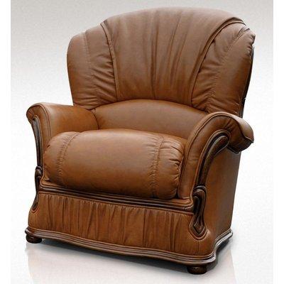 Designer Sofas 4 U - Bologna Armchair Genuine Italian Tan Leather Offer