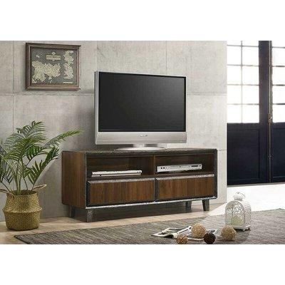Bretton TV Unit Stand Cabinet Walnut Living Room Furniture - TIMBER ART DESIGN UK