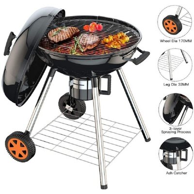 Charcoal Barbecue grill , with thermometer and grid - DAZHOM