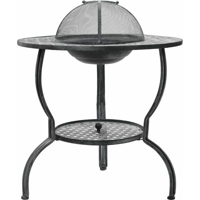 Charcoal BBQ Grill Antique Grey 70x67 cm - Grey - Vidaxl