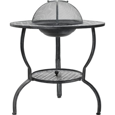 Charcoal BBQ Grill Antique Grey 70x67 cm(Barbecue grill not included) - VIDAXL