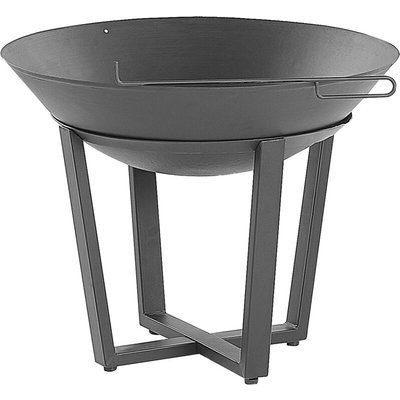 Beliani - Modern Outdoor Charcoal Fire Pit Black Steel Metal Bowl Shape Round Kedung