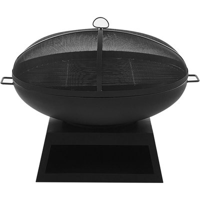 Beliani - Charcoal Fire Pit Black SEMERU