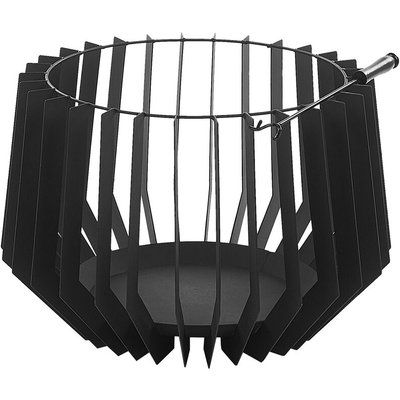 Beliani - Charcoal Fire Pit Black UBINAS