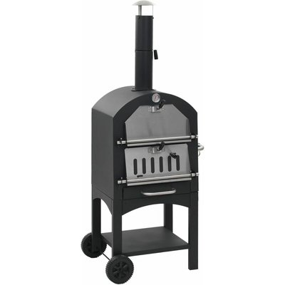 Youthup - Charcoal Fired Outdoor Pizza Oven with Fireclay Stone