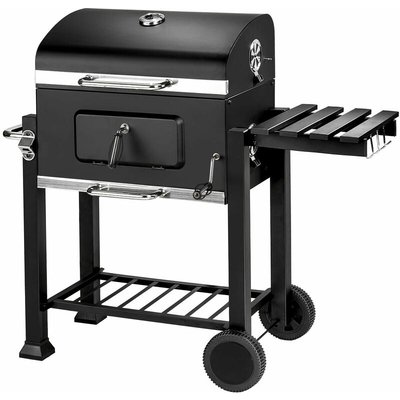 BBQ Florian - charcoal grill, barbecue, charcoal bbq - black - TECTAKE