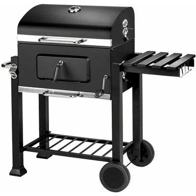BBQ Florian - charcoal grill, barbecue, charcoal bbq - black - black - TECTAKE