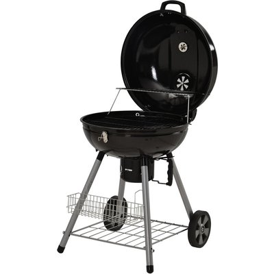 Charcoal Grill with Wheels 22.5 inch BBQ Camping Picnic Black