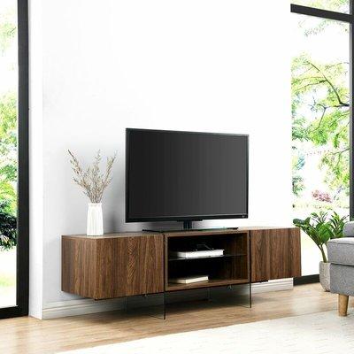 Meriden Furniture - Cherry Tree Furniture Bensson 2 Door TV Unit with Glass Legs