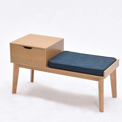 Cherry Tree Furniture OSLO 1-Drawer Storage Shoe Bench with Padded Seat
