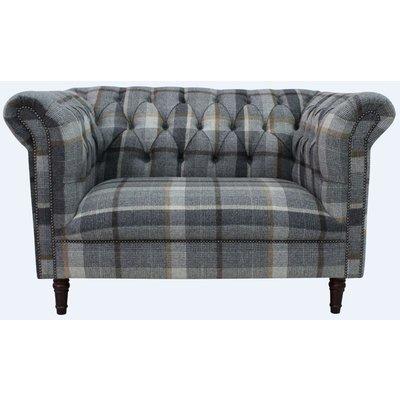 Designer Sofas 4 U - Chesterfield Gleneagles Snuggler 2 Seater Settee Malham Taupe Wool Sofa