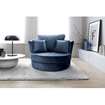Abakus Direct - Chicago Swivel Chair - color Dark Blue