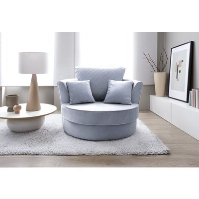 Chicago Swivel Chair - color Silver Blue - ABAKUS DIRECT