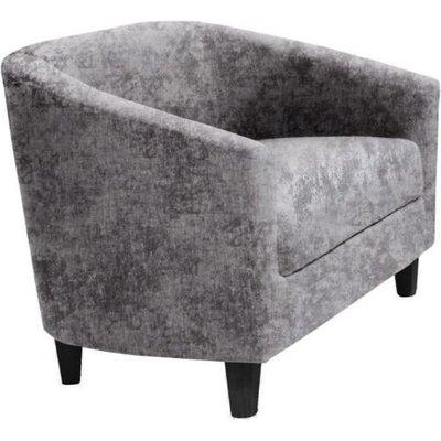 Designer Sofas 4 U - Claridon 2 Seater Sofa Crushed Velvet Silver