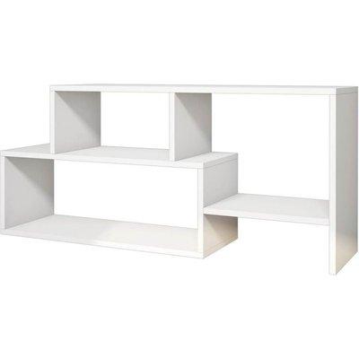 Homemania TV Stand Clover 121.8x29.5x53.8cm White - White
