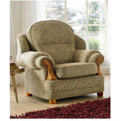 Designer Sofas 4 U - Conway Armchair 1 Seater Sofa Fabric Upholstered In Vanquish Pecan