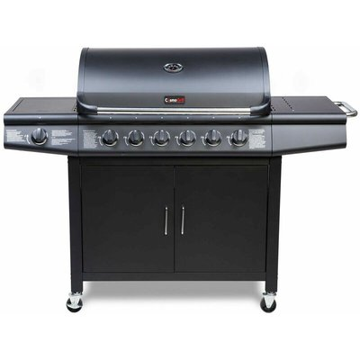 CosmoGrill 6+1 Deluxe Gas Burner Grill Barbecue Incl. Side Burner - Black 77 x 42 cm - COSMOGRILL ™