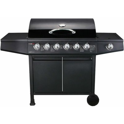 CosmoGrill 6+1 Gas Burner Grill BBQ Barbecue Inc Side Burner - 93422 with Cover - COSMOGRILL ™