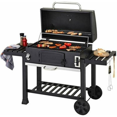 "Cosmogrill â""¢ - CosmoGrill XXL Charcoal Outdoor Smoker BBQ Portable Garden Barbecue Grill With Cover"