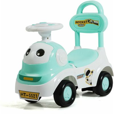 Costway 3 in 1 Kids Toddlers Baby Ride On Car Toy Walker Sliding Push Along Car Music