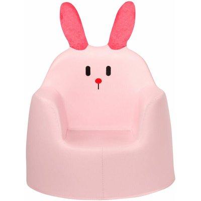 COSTWAY Kids Sofa, Rabbit Cartoon Armchair with Integrated Foam and PU Surface, Children Chair