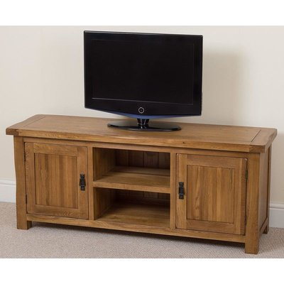 Modern Furniture Direct - Cotswold Rustic Solid Oak Widescreen TV Cabinet