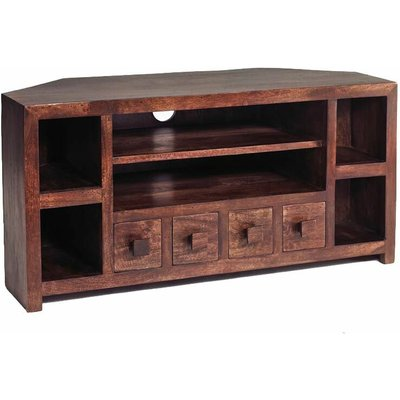Verty Furniture - Dakota Mango Corner TV Unit