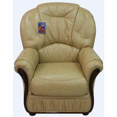Debora Genuine Italian Sofa Leather Armchair Nut Colour - DESIGNER SOFAS 4 U