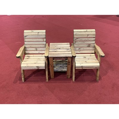 Deluxe Companion Set, wooden garden love seat, fully assembled - CHARLES TAYLOR