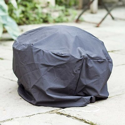 60542 Premium Fire Pit Basket Bowl Cover Grey Outdoor Heater - La Hacienda