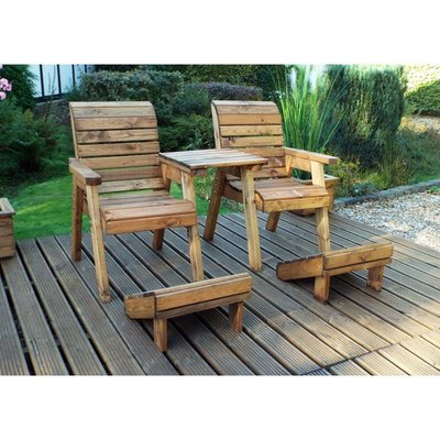 Deluxe Lounger Set (Straight), Wooden Quality Garden Furniture, fully assembled - CHARLES TAYLOR