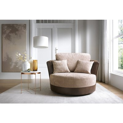 Dylan Swivel Chair - Brown - color Brown - ABAKUS DIRECT
