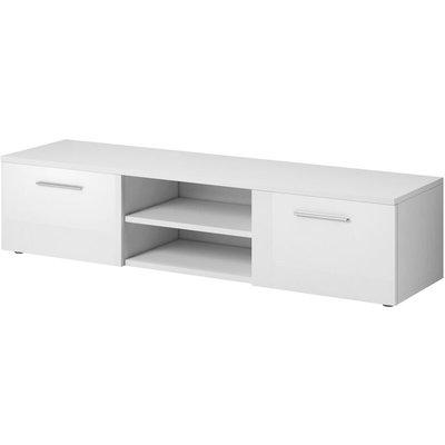 e-Com - TV Unit Cabinet Stand Sideboard VEGAS - 150 cm - White