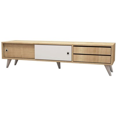 Homemania TV Stand Eduardo 160x40x40 cm Oak and White - Multicolour