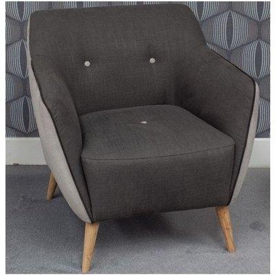 Enzo 1 Seater Fabric Sofa Armchair Dark Grey - DESIGNER SOFAS 4 U