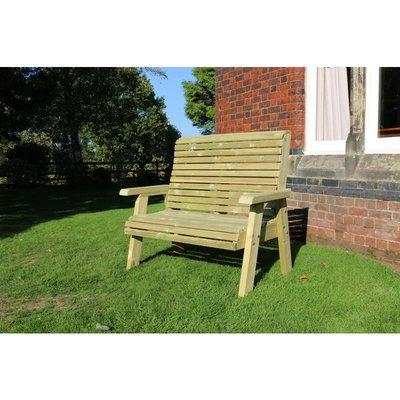 Churnet Valley - Ergonomical 2 Seater Bench, wooden garden chair