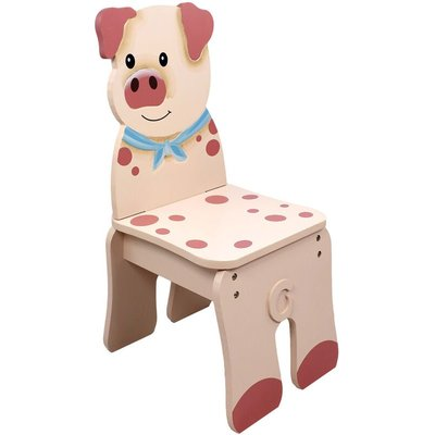 Children Kids Toddler Wooden Pig Chair (no table) TD-11324A2P - Fantasy Fields