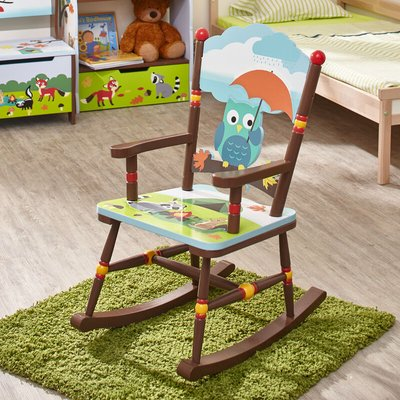 Childrens Enchanted Woodland Kids Wooden Rocking Chair TD-11738A - Fantasy Fields