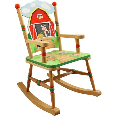 Childrens Happy Farm Kids Wooden Rocking Chair Bedroom TD-11332A - Fantasy Fields