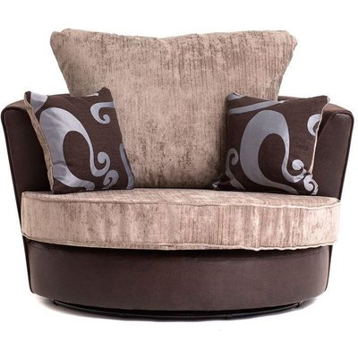 FARROW SWIVEL CHAIR IN BROWN - color Brown - ABAKUS DIRECT