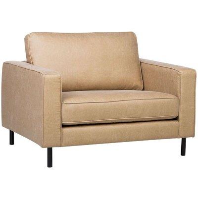 Beliani - Modern Fabric Armchair Metal Legs Minimalist Living Room Beige Savalen