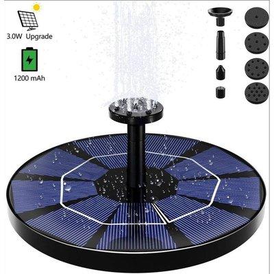 Floating outer solar fountain, solar pump with 6 nozzles for bird bath aquarium garden fountain