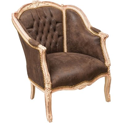 French style solid beech wood made armchair - BISCOTTINI