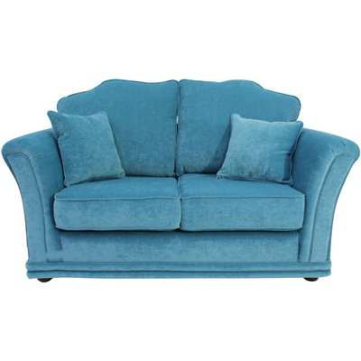 Designer Sofas 4 U - Galaxy 2 Seater Fabric Sofa Settee Upholstered In Pimlico Teal