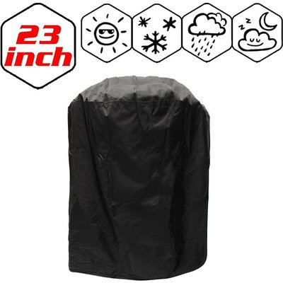 Langray - Garden BBQ Cover Barbecue Protector Outdoor Burner Grill Dust Rain Cover Heavy Duty, Waterproof, UV Repellent, Double Stitching, Elastic