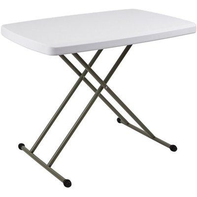 Trueshopping - Outdoor Garden BBQ Party Catering Trestle Folding Table Adjustable Height 2.5ft