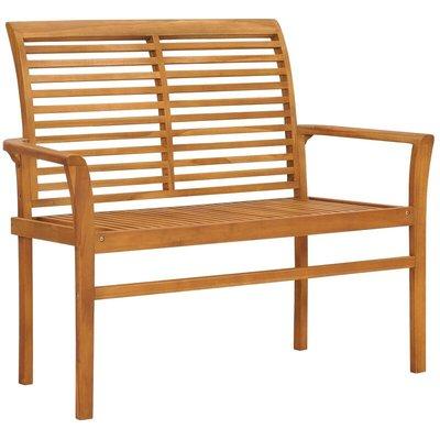 Garden Bench 112 cm Solid Teak Wood - VIDAXL