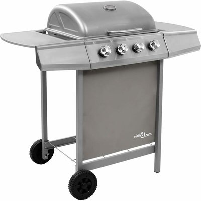 Youthup - Gas BBQ Grill with 4 Burners Silver