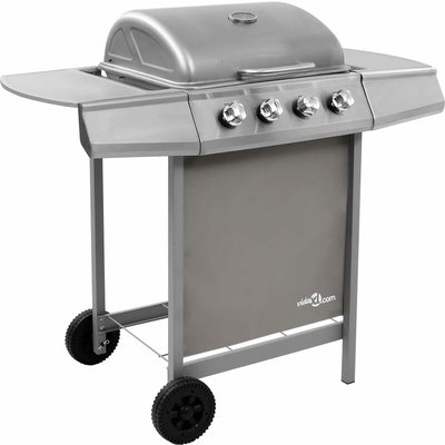 Vidaxl - Gas BBQ Grill with 4 Burners Silver (FR/BE/IT/UK/NL only)