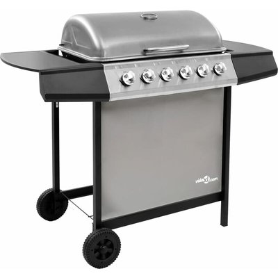 Vidaxl - Gas BBQ Grill with 6 Burners Black and Silver (FR/BE/IT/UK/NL only)